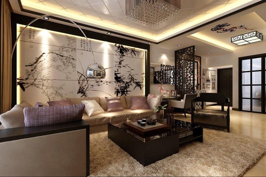 Dekorasi Ruang Tamu Oriental Modern